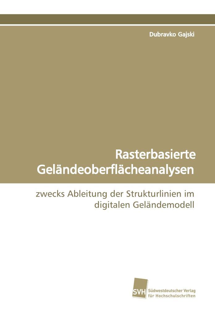 Rasterbasierte Geländeoberflächeanalysen als Buch von Dubravko Gajski