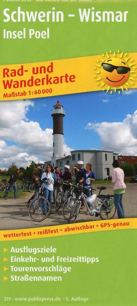 Rad- und Wanderkarte Schwerin - Wismar, Insel P...