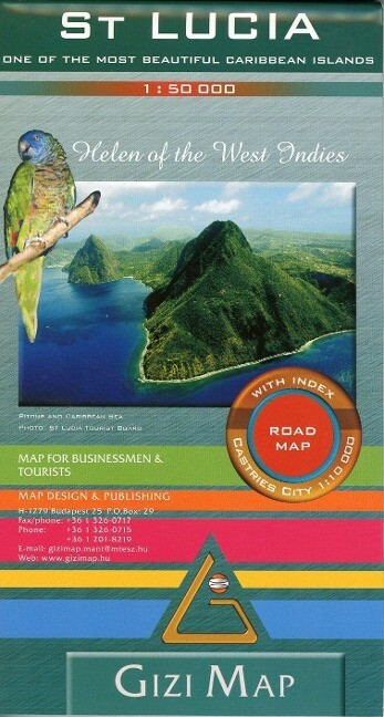 Saint Lucia Geographical Map 1 : 50 000
