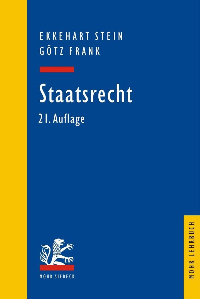 Staatsrecht als Buch (kartoniert)
