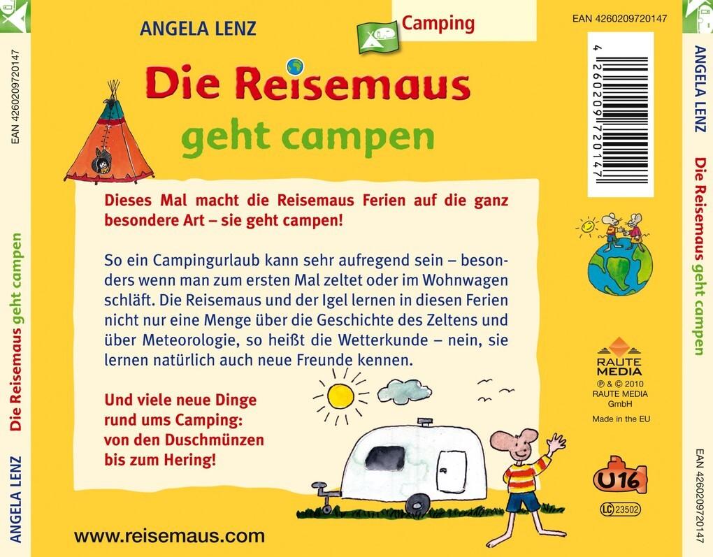 adc748f1e3 Die Reisemaus Geht Campen (Hörbuch), Lenz,Angela