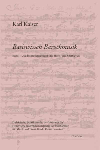 Basiswissen Barockmusik 01 als Buch