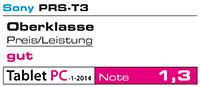Der Sony Reader PRS-T3 - Testnote 1,3