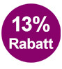 13% Rabatt