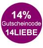 Jetzt 14% Rabatt sichern mit dem Gutscheincode 14LIEBE bei eBook.de