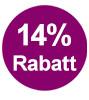 14% Rabatt