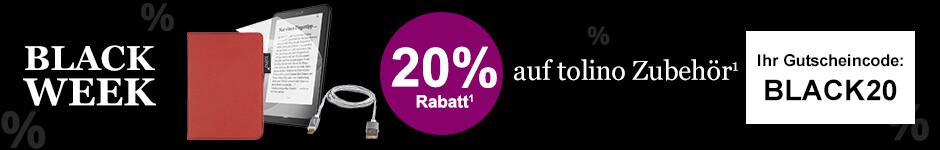 BLACK WEEK Angebot: 20% Rabatt auf tolino Zubehör