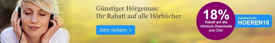 Jetzt 18% auf alle Hörbücher sparen - bei eBook.de