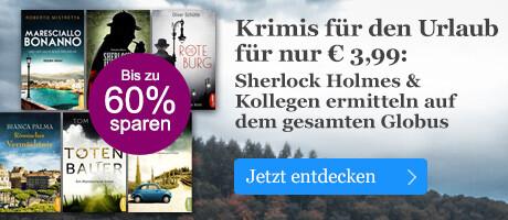 Krimis für den Urlaub für nur € 3,99 bei eBook.de