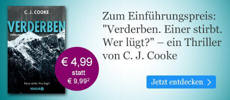 Zum Einführungspreis bei eBook.de: Verderben von C. J. Cooke