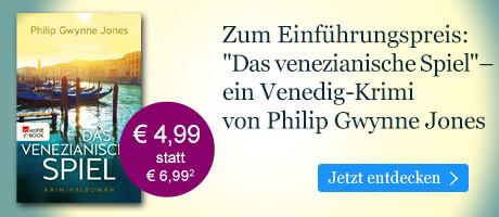 Zum Einführungspreis bei eBook.de: Das venezianische Spiel von Philip Gwynne Jones