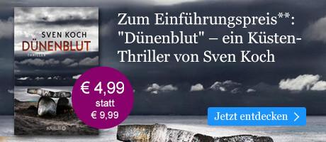 Zum Einführungspreis: Dünenblut von Sven Koch bei eBook.de