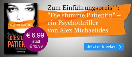 Zum Einführungspreis: Die stumme Patientin von Alex Michaelides bei eBook.de