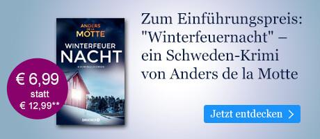 Zum Einführungspreis bei eBook.de: Winterfeuernacht von Anders de la Motte