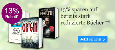 13% sparen auf bereits stark reduzierte Bücher