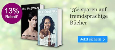 13% sparen auf internationale Bücher