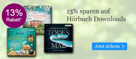 13% sparen auf Hörbuch Downloads