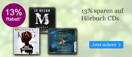 13% sparen auf Hörbuch CDs
