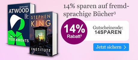 14% sparen auf fremdsprachige Bücher