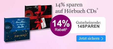 14% sparen auf Hörbuch CDs