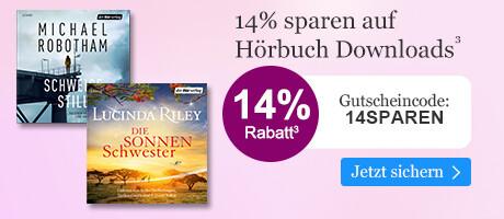 14% sparen auf Hörbuch Downloads