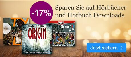 Sparen Sie 17% auf Hörbücher & Hörbuch Downloads