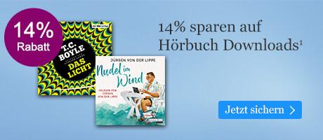 Sparen Sie 14% auf Hörbuch Downloads