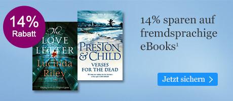 Sparen Sie 14% auf internationale eBooks