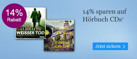 Sparen Sie 14% auf Hörbuch CDs