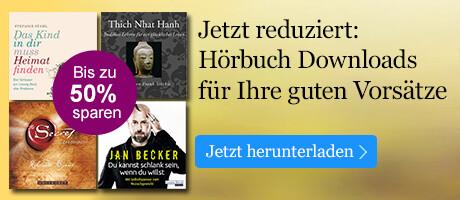 Hörbuch Downloads für Ihre guten Vorsätze bis zu 50% reduziert bei eBook.de