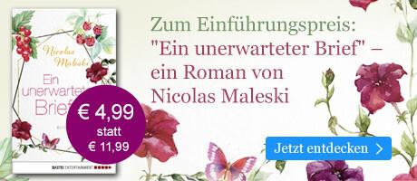 Zum Einführungspreis: Ein unerwarteter Brief von Nicolas Maleski bei eBook.de