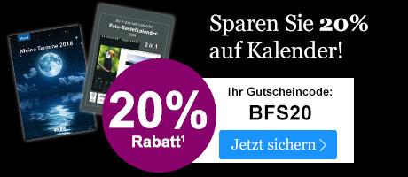 Sichern Sie sich 20% Rabatt auf Kalender im Black Friday Sale bei eBook.de