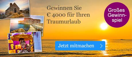 Unser großes Gewinnspiel: Gewinnen Sie 4000 EUR für Ihren Traumurlaub mit Evaneos
