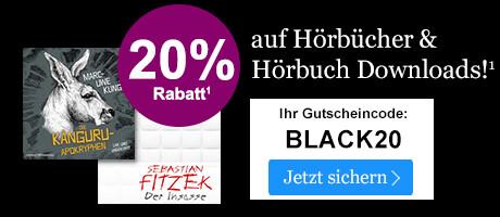 BLACK WEEK Angebot: 20% Rabatt auf Hörbücher & Hörbuch Downloads