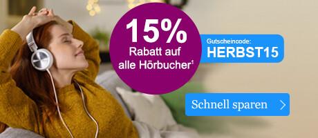 Jetzt 15% auf alle Hörbücher sparen - bei eBook.de