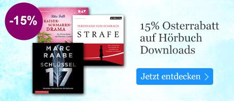 15% auf Hörbuch Downloads bei eBook.de