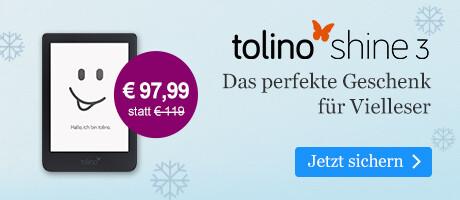 Der tolino shine 3 für € 97,99 bei eBook.de