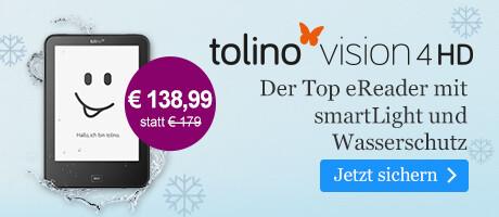 Der tolino vision 4 HD für € 138,99 bei eBook.de