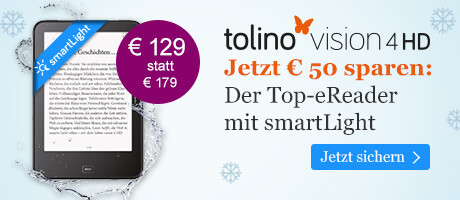 Jetzt um € 50 reduziert: eReader tolino vision 4 HD für € 129