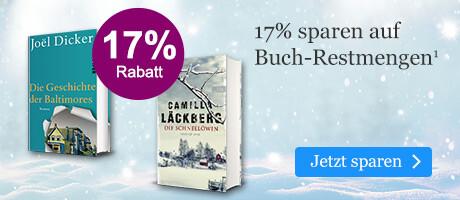 17% sparen auf Buch-Restmengen