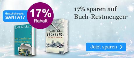 Sparen Sie 17% auf Buchrestmengen bei eBook.de