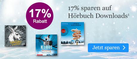 Sparen Sie 17% auf Hörbuch Downloads