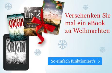 Verschenken Sie ein eBook zu Weihnachten mit eBook.de