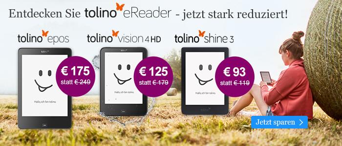 Die tolino eReader zum reduzierten Preis bei eBook.de entdecken
