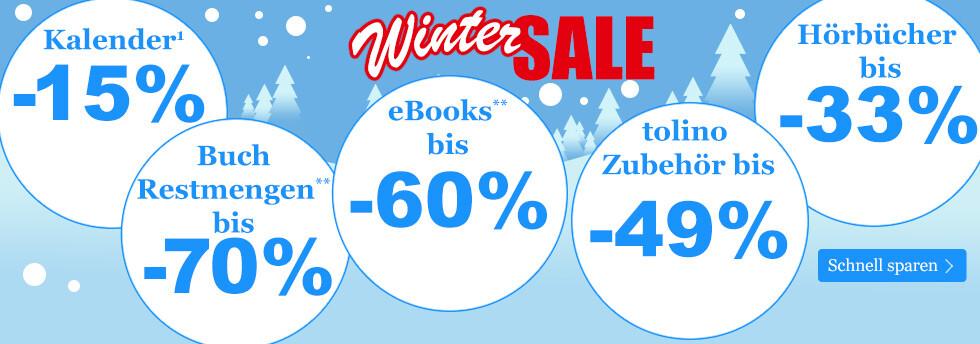 Großer Winter SALE bei eBook.de