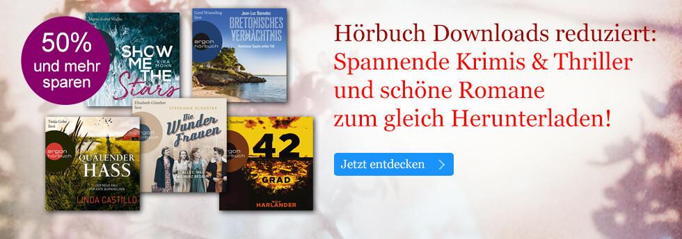 Bestseller Hörbuch Downloads reduziert bei eBook.de: Krimis, Thriller und Romane