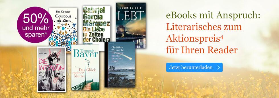 eBooks mit Anspruch: Literarisches zum Aktionspreis für Ihren Reader bei eBook.de