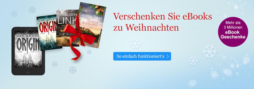 eBooks zu Weihnachten verschenken bei eBook.de