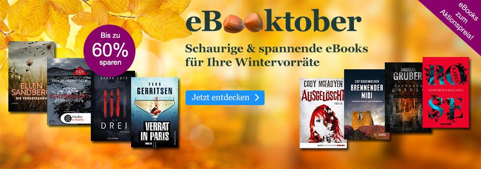 eBooktober bei eBook.de: Schaurige & spannende eBooks für Ihre Wintervorräte