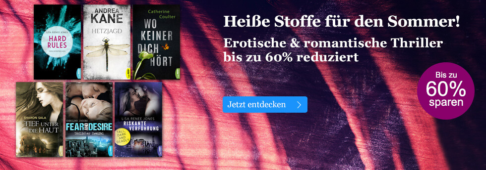Heiße Stoffe! Erotische & romantische Thriller reduziert bei eBook.de